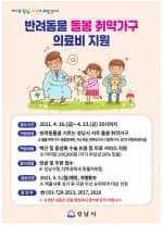 성남시 반려동물 돌봄 취약가구에 의료비 최대 20만원 지원